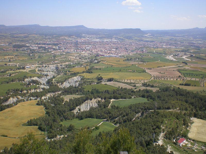 Patrimoni geològic Vistes panoràmiques des de La Tossa de Montbui Els xaragalls