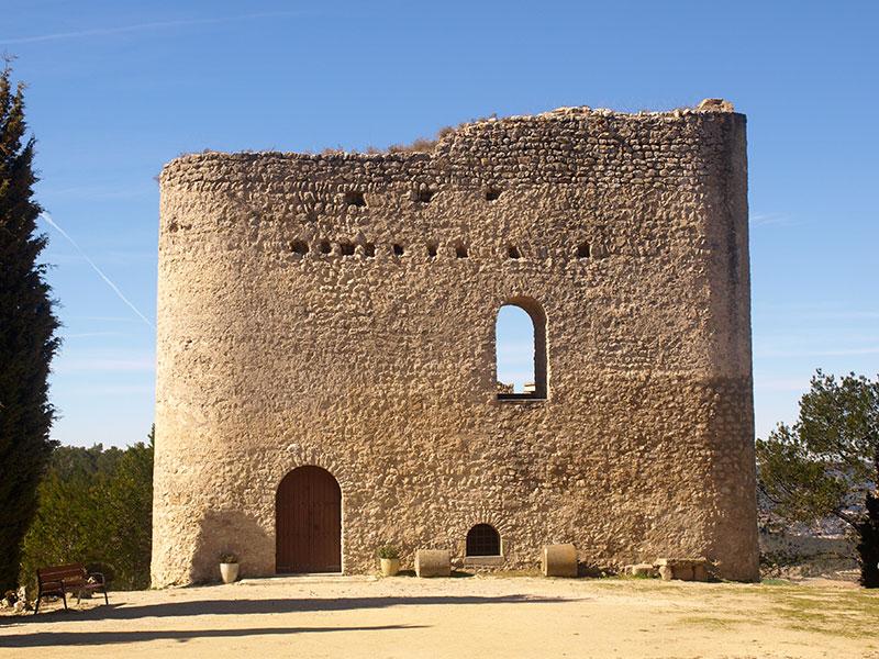 Torre de defensa La Tossa de Montbui vista-frontal