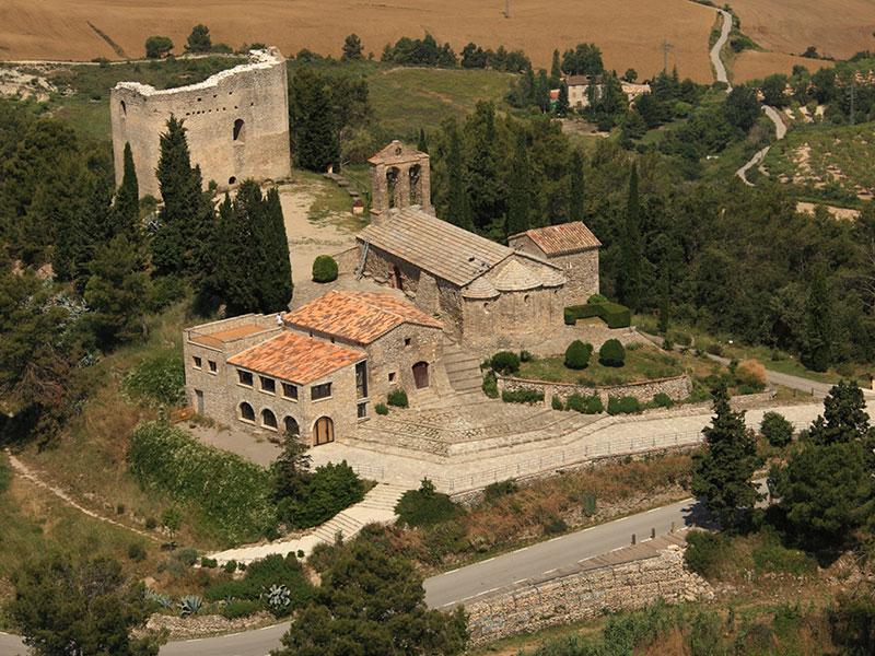 La Tossa de Montbui Patrimoni històric i natural vista aèria