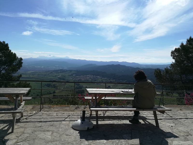 Mirador del migdia La Tossa de Montbui